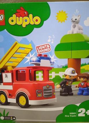 Конструктор lego duplo пожарная машина 10901 звук, свет - 21 дет