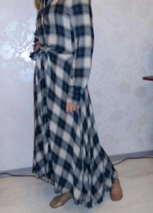 Невероятно красивое стильное платье -рубашка  макси. швейцария.