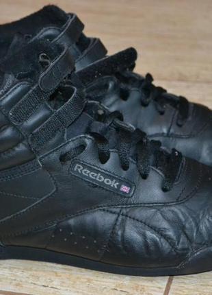 Reebok 38р кроссовки высокие кожаные оригинал.