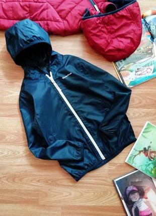 Детская крутая фирменная ветровка - куртка для мальчика quechua - возраст 8 лет