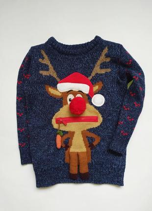 Новогодний свитер ,рост 104-110 см(4-5лет)