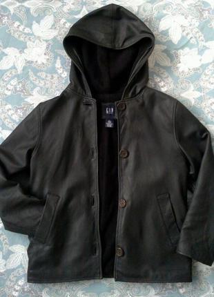 Крутая кожаная куртка фирмы gap