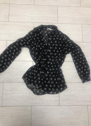 Чёрная блуза tally weill