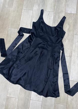 Шёлковое миди платье,чёрное платье,натуральный шёлк,большой размер
