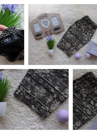Стильная юбка миди в принт на резинке