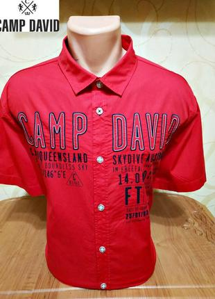 Рубашка с коротким рукавом camp david, оригинал р. xl