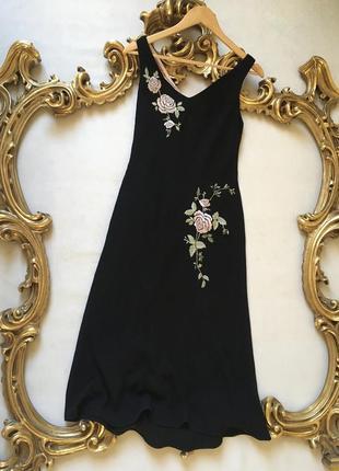 Платье англия чёрное миди коктейльное