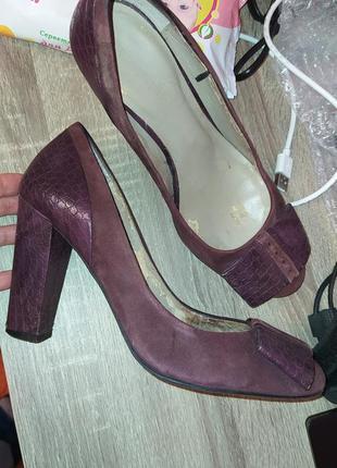Замшевые туфли autograph 38 размер