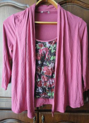 Блуза-кардиган 2 в 1