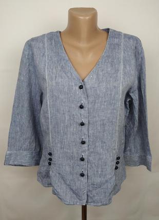 Блуза топ льняная стильная оригинал jaeger 12-14