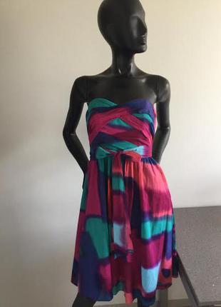 Яркое коттоновое платье coast 8(36)