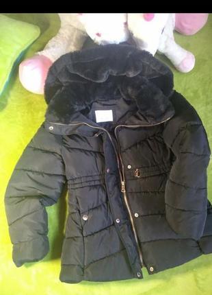 Куртка пуховик зара zara на ріст 140