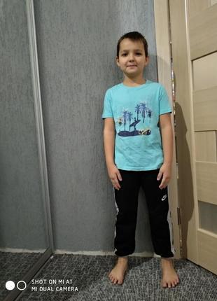 Детские штаны спортивные черные байка найк