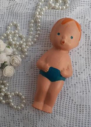 Мальчик купальщик копычинцы резиновая игрушка ссср винтаж советский пупс кукла