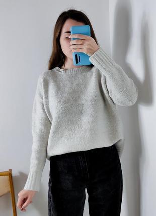 Женский серый свитер кофта zara жіночій светр