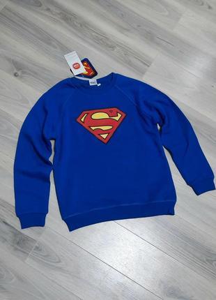 Свитшот с начесом внутри супермен cool club 146 см