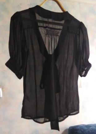 Очень красивая прозрачная черная блузка atmosphere