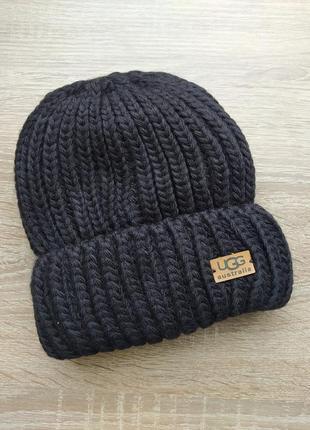 Шапка ugg, черна шапка, шапочка