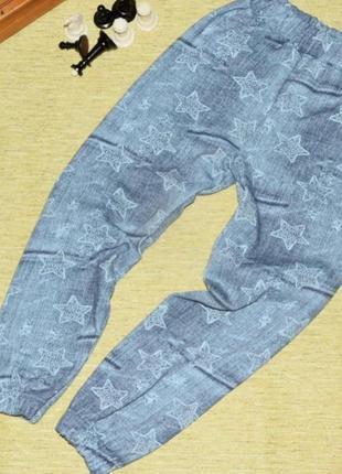Детские штаны джоггеры с начесом, теплые 100 см