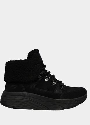 Оригинальные женские ботинки skechers (144354 bbk )
