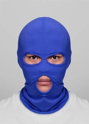 Балаклава маска (бандитка), унисекс синяя