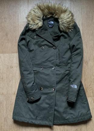 Тёплое пальто-курточка the north face