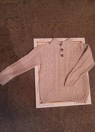 Теплый зимний свитер,джемпер в школу f&f на 7-9 лет.