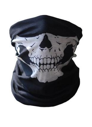 Бафф маска с рисунком черепа (челюсть), унисекс
