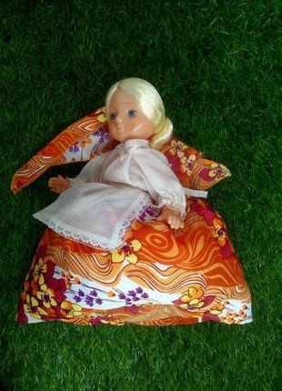 Аленка кукла на чайник баба винтаж ссср советская загорская паричковая
