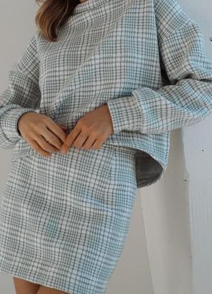 Костюм юбка и кофта в стиле шанель