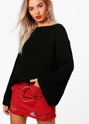 Стильный объемный свитер широкий рукав boohoo