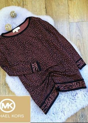 Леопардовый джемпер michael kors