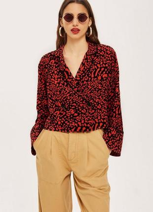Рубашка блуза в принт от topshop