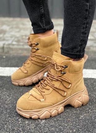 Зимние высокие кроссовки на меху, ботинки утепленные женские, кросівки зимові