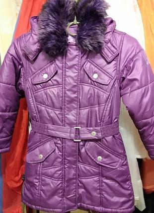 Удлиненная зимняя куртка на девочку рост 116 германия