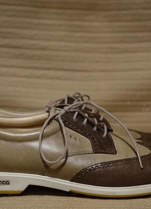 Отличные комбинированные кожаные дерби-броги ecco hydromax дания 40 р.