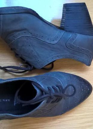 Туфли серого цвета 40р.(25,5см)7р.,натур.кожа, удобные!