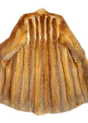 Приталенная шуба из лисицы №018