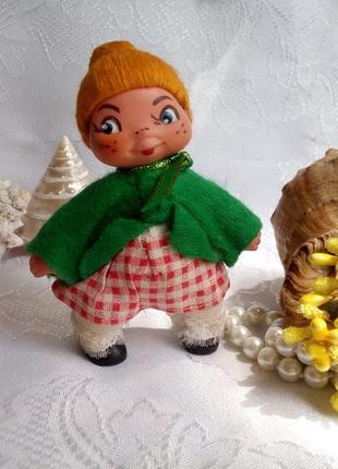 Famos leipzig кукла пупс кривоножка гдр германия  винтаж в одежде куколка миниатюра