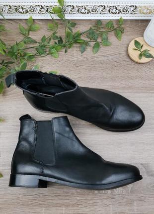 🌿41🌿европа🇪🇺 topshop. кожа. качественные фирменные ботинки, челси