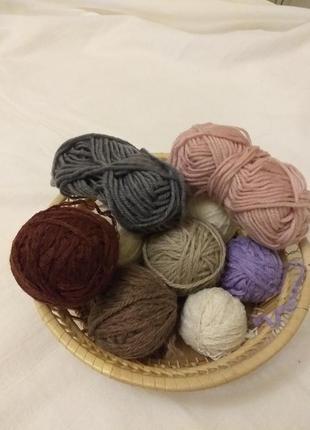 Набор ниток для вязания, амигуруми.(3846)