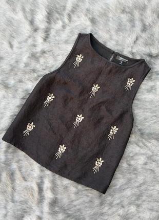 Black friday sale до -60% блуза топ кофточка с вышивкой topshop