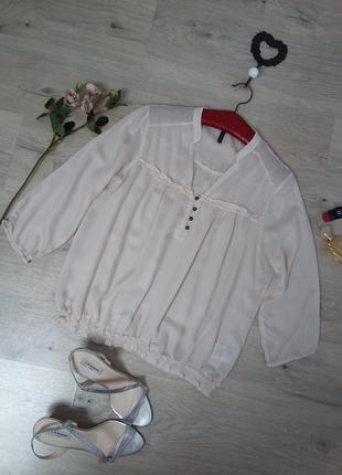 🍃🌼🍃 красивая легкая блуза в цвете айвори🍃🌼
