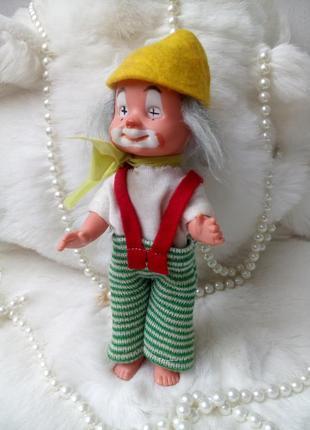 Клоун puppenfabrik кукла гдр германия винтаж  пупс в одежде германия