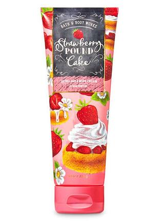 Крем для тела bath and body works strawberry pound cake