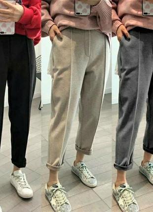 Штаны 42-52 шерстяные брюки теплые