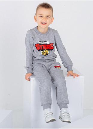 "Детский спортивный костюм с принтом ""brawl stars"" (без флиса)"