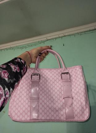Сумка l'oréal рожева шкіряна(дермантин)