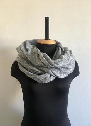 Новий класний теплий шерстяний шарф снуд хомут від h&m унісекс тёплый шарф