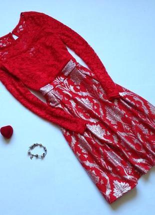 Красное платье миди bodyflirt